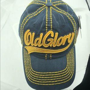 KB Vintage Old Glory Weathered Look Cap Hat Navy